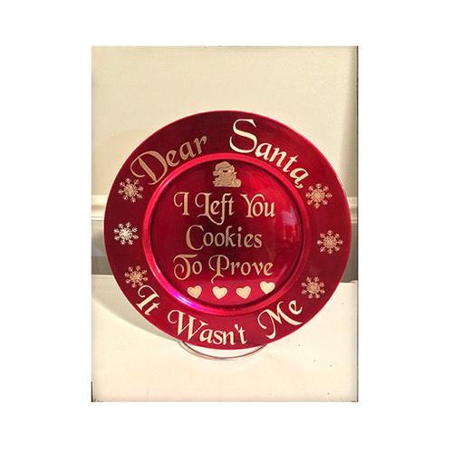 cookies for santa, cookies for santa plate, plate for santa