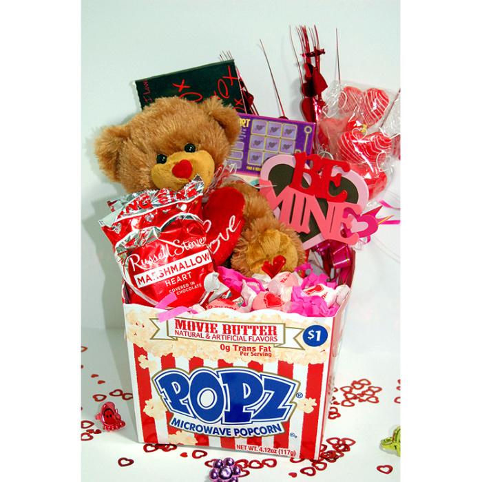 Popcorn Valentine Gift Basket