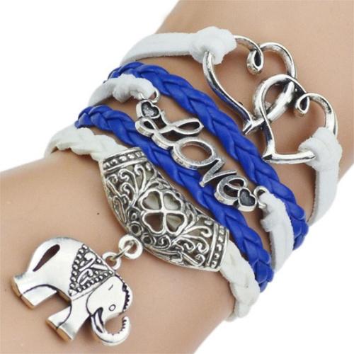 Leather Bracelets & Bangles Elephant Bracelets