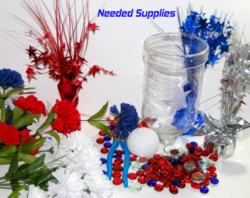DIY Patriotic Centerpiece Supplies - Step 1 | Patriotic Home Decor