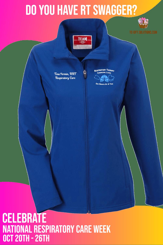 Respiratory Care Week Personalized Blue Ladies Jacket