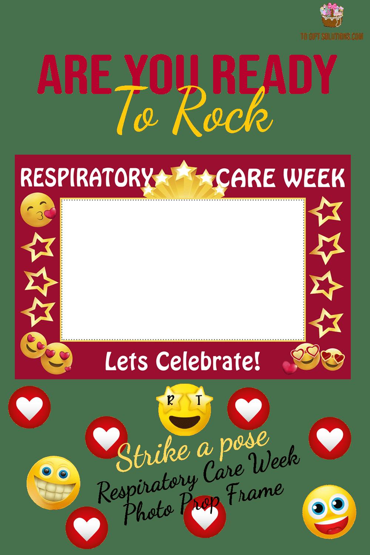 Respiratory Care Week Red Emoji Photo Prop Frame
